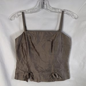 NWT Cache 2 Tank Top Silk Brown Bows 975